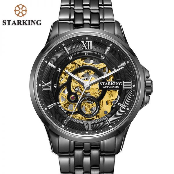 81357d745 STARKING Men Skeleton Automatic Mechanical Watch-2810MA | witty ...